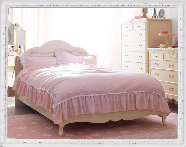 【直送】クラシカル木製ベッド(マットレス付・シングル)