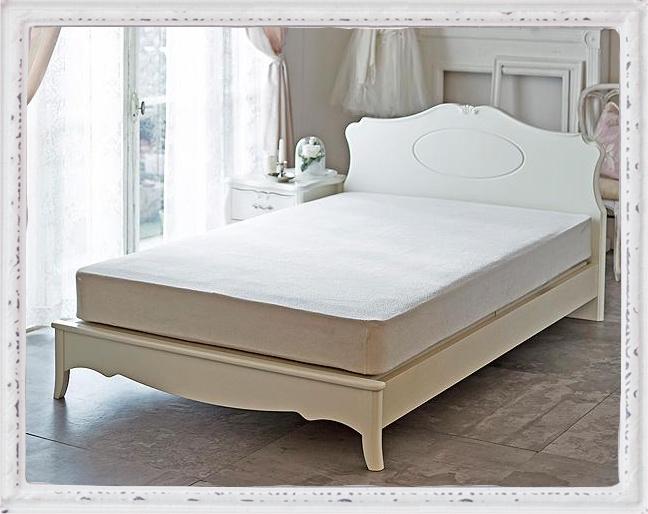 【直送】布張りデザインベッド(ボンネルコイルマット付き・シングル)
