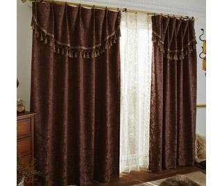 ジャガード遮光カーテン(100×178・2枚組)
