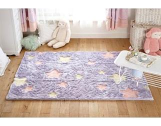 ふわふわお星さまラグ(長方形・130×190)