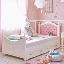 【直送】PVCデザイン収納ベッド(B・マットレス付き・シングル)