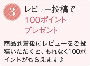 3.レビュー投稿で100ポイントプレゼント